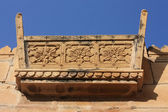 Stone carving bench at jaisalmer — Stock Photo