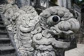Statute at tomb of Emperor Khai Dinh — Stock Photo