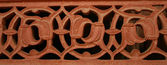 Stone carving pattern at fatehpur sikri — Stock Photo