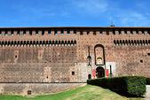 Castillo sforzesco de milán — Foto de Stock