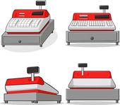 Cashier Machine — Stock Vector
