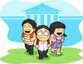 Kids Going Back to School — Vecteur