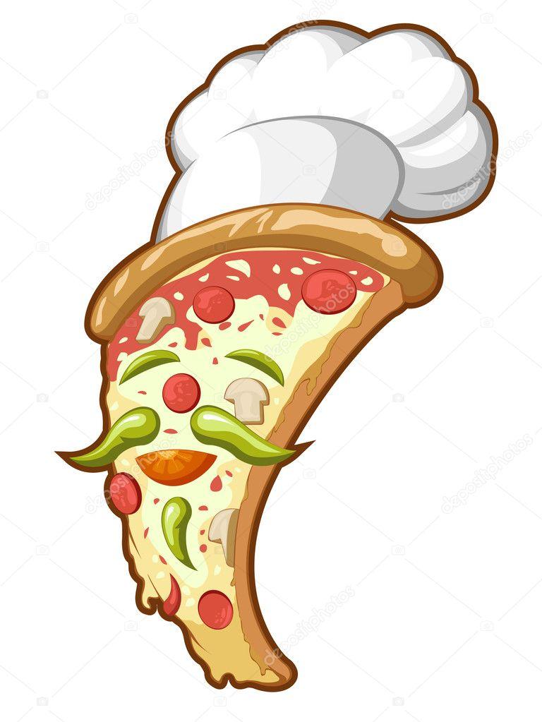 披萨图片手绘图