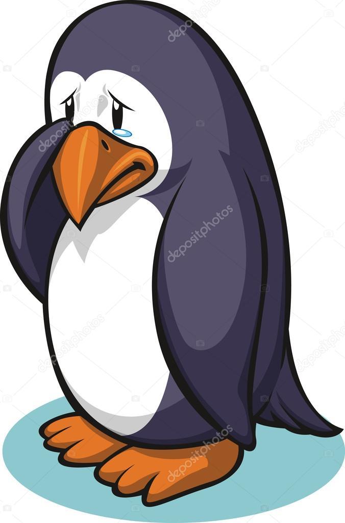 伤心企鹅 — 图库矢量图片 #17593505