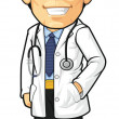Cartoon of Doctor — Stock Vector