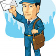Cartoon of Postman or Mailman — Stock Vector #23151432
