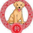 Royalty-Free Stock Vector Image: Chinese Zodiac Animal - Dog