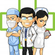Health Care or Medical Staff Doctor, Nurse, & Surgeon - Stock Vector