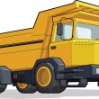 Haul Truck or Construction Truck — Vector de stock #23151944