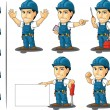Technician or Repairman Mascot 2 — 图库矢量图片