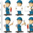Technician or Repairman Mascot — 图库矢量图片