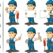 Technician or Repairman Mascot — Vettoriale Stock  #23152056