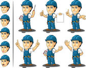 Technician or Repairman Mascot 3 — Stockvector