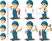 Technician or Repairman Mascot — Stock Vector