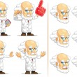 Scientist or Professor Customizable Mascot 4 — Stock Vector