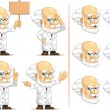 Scientist or Professor Customizable Mascot 8 — Stock Vector
