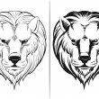 Sketch of Lion Head — Stock Vector