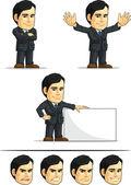 Businessman or Office Executive Customizable Mascot 6 — Stock Vector