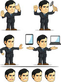 Businessman or Office Executive Customizable Mascot 11 — Stock Vector