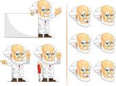 Scientist or Professor Customizable Mascot 5 — Stock Vector
