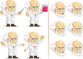 Scientist or Professor Customizable Mascot 11 — Stock Vector