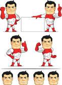 Superhero Customizable Mascot 2 — Stock Vector