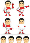 Superhero Customizable Mascot 3 — Stock Vector