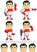 Superhero Customizable Mascot 5 — Stock Vector