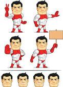 Superhero Customizable Mascot 7 — Stock Vector