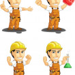 Industrial Construction Worker Customizable Mascot — Stock Vector #34179115