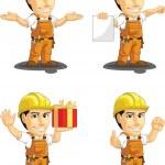 Industrial Construction Worker Customizable Mascot 11 — Stock Vector #34179141
