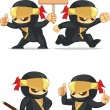 Постер, плакат: Ninja Customizable Mascot 6
