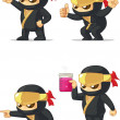Постер, плакат: Ninja Customizable Mascot 5
