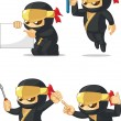 Постер, плакат: Ninja Customizable Mascot 9