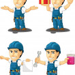 Technician or Repairman Customizable Mascot 11 — Stock Vector