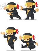 Ninja Customizable Mascot 8 — Stock Vector