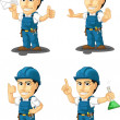 Technician or Repairman Customizable Mascot 4 — Stock Vector