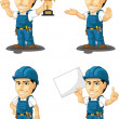 Technician or Repairman Customizable Mascot 5 — Stock Vector