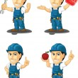 Technician or Repairman Customizable Mascot 10 — ストックベクタ