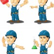 Technician or Repairman Customizable Mascot 13 — Vector de stock