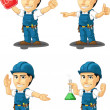 Technician or Repairman Customizable Mascot 13 — Vettoriale Stock