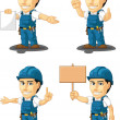 Technician or Repairman Customizable Mascot 12 — Stock Vector