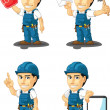Technician or Repairman Customizable Mascot 15 — Stock Vector #34180081