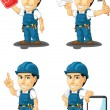 Technician or Repairman Customizable Mascot 15 — Stock Vector