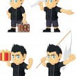 Постер, плакат: Spiky Rocker Boy Customizable Mascot 5