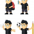Постер, плакат: Spiky Rocker Boy Customizable Mascot 8