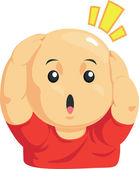 Cartoon of Funny Bald Kid — Stock Vector
