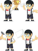 Nerd Boy Customizable Mascot 2 — Stock Vector