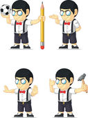 Nerd Boy Customizable Mascot 5 — Stock Vector