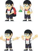 Nerd Boy Customizable Mascot 9 — Stock Vector